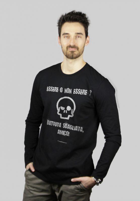 maglietta scena teschio essere o non essere