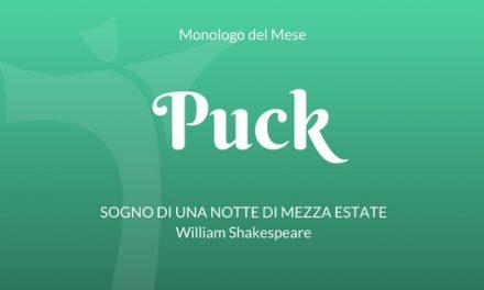 """Il Monologo di Puck, da """"Sogno di una notte di mezza estate"""" di W. Shakespeare"""