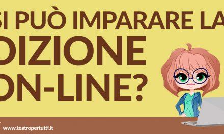 Si può imparare la Dizione Online?