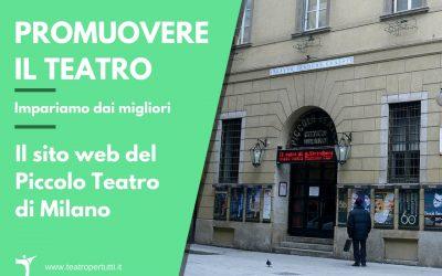 Promuovere il teatro: Il sito web del Piccolo Teatro di Milano