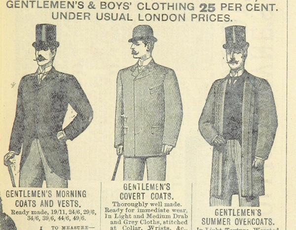 moda maschile inizio novecento